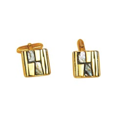 Fancy Sixties mother-of-pearl patterned cufflinks