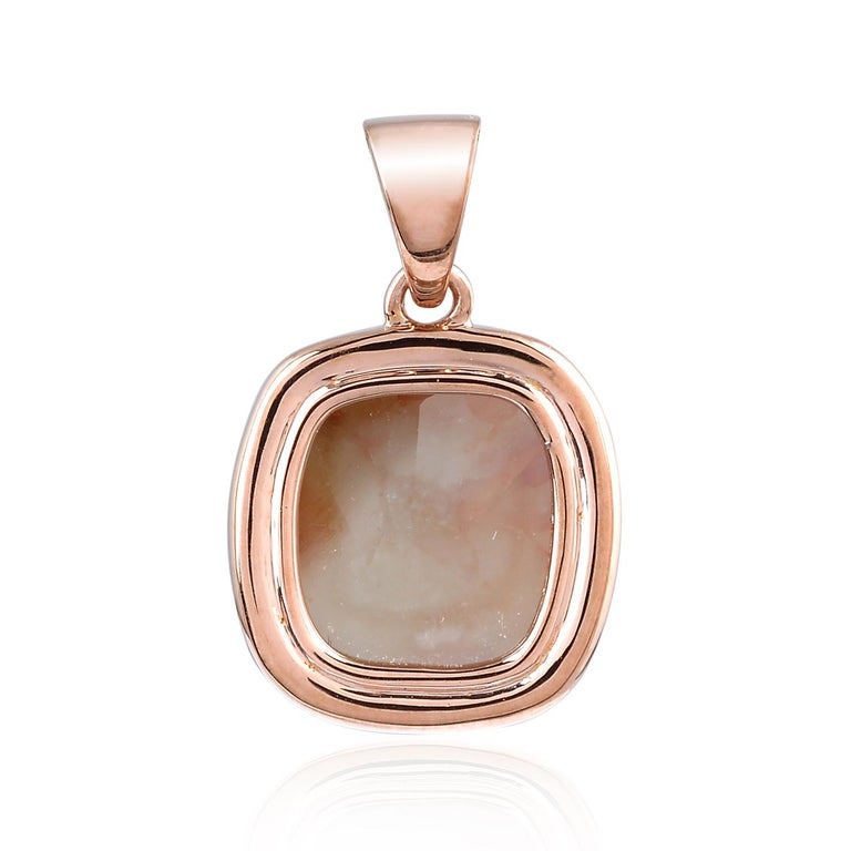 This stunning pendant has been meticulously crafted from 18-karat rose gold. It is set with 3.89 carats of natural slice diamond & pave diamonds.  FOLLOW MEGHNA JEWELS storefront to view the latest collection & exclusive pieces.