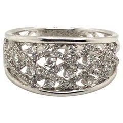 Fancy Style Diamond Fashion Ring with 18 Karat Gold