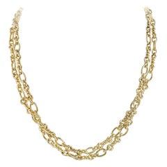 Fancy Twist Link Gold Chain
