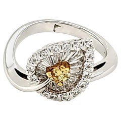 Fancy Vivid Yellow Diamond Ring