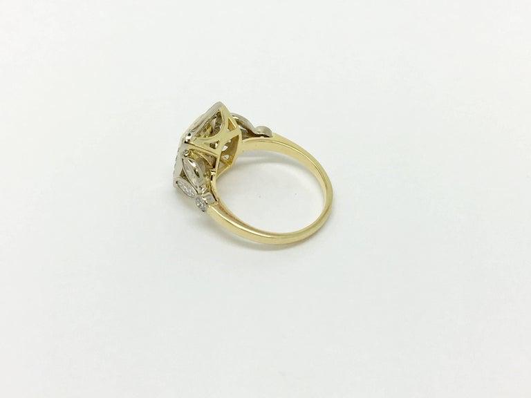 Women's Fancy Yellow 1.66 Carat Cushion Cut Diamond Ring For Sale