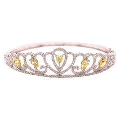Fancy Yellow Diamond Bangle Bracelet