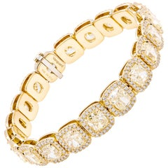Fancy Yellow Diamond Bracelet Crafted in 18 Karat Yellow Gold