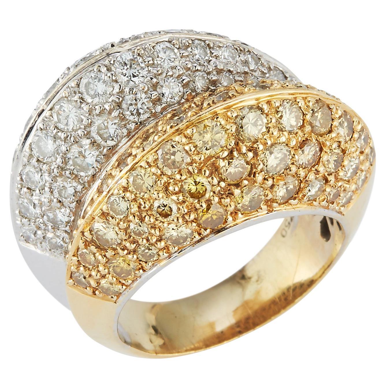 Fancy Yellow Diamond Double Dome Ring