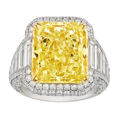 Fancy Yellow Diamond Ring, 10.02 Carat