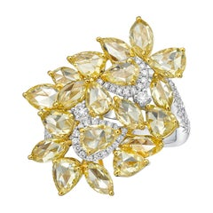 KAHN Rose cut yellow diamond / fancy shape Yellow Diamond Ring