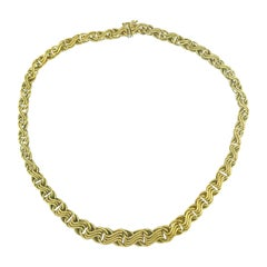 Fancy Yellow Gold Chain Necklace