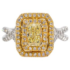 Fancy Yellow High Clarity Diamond Ring