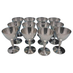 Faneuil by Tiffany and Co. Sterling Silver Martini Glass Set 12 Piece #18885