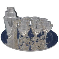 Faneuil by Tiffany & Co. Sterling Silver 14-Piece Martini Set with Tray