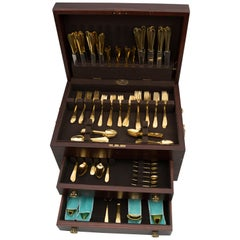 Faneuil Gold by Tiffany and Co. Flatware 110+ Pieces