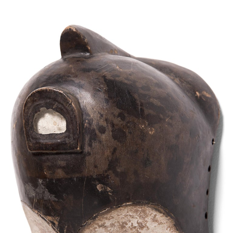 Gabonese Fang-Style African Painted Mask For Sale