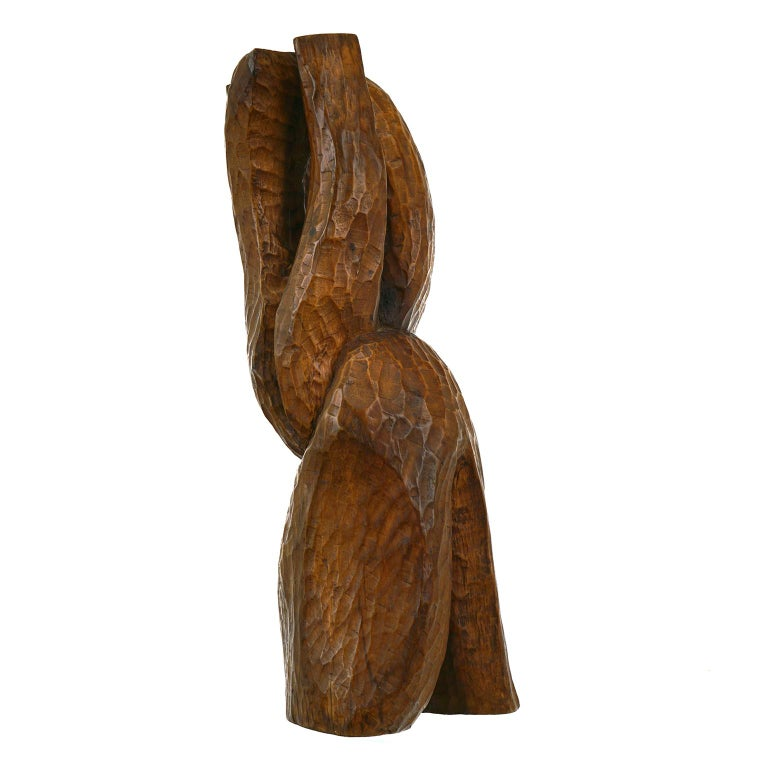 American Fannie Lager Modernist Wood Sculpture For Sale