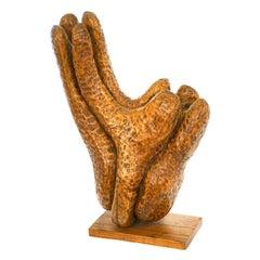 Fannie Lager Modernist Wood Sculpture