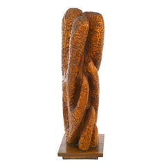 Fannie Lager Modernist Wood Sculpture