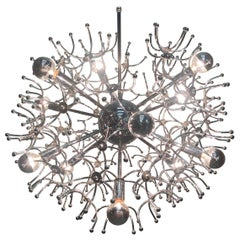 Fantabulous Multi Arm Vintage Sputnik Chrome Chandelier