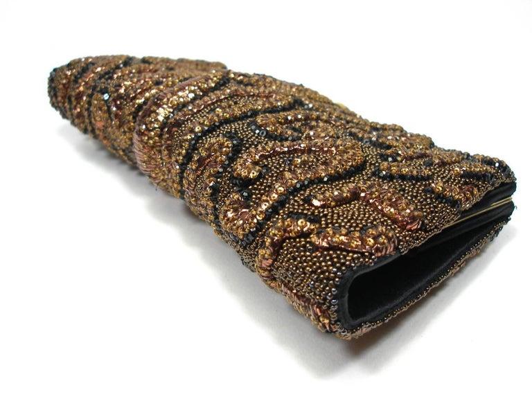 Fantastic & Collectible Era Tom Ford for YSL Beaded and Sequins Clutch  For Sale 2