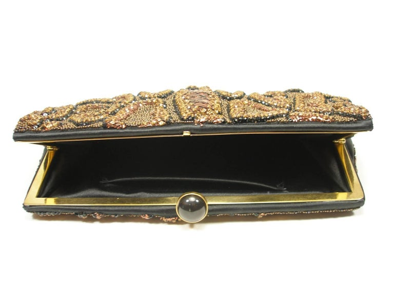 Fantastic & Collectible Era Tom Ford for YSL Beaded and Sequins Clutch  For Sale 4