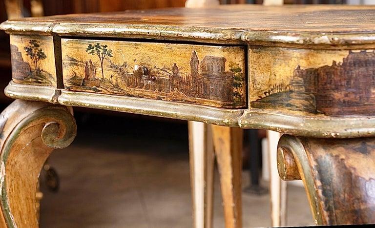 Découpage Fantastic 18thc Italian Arte Povera Game Table For Sale