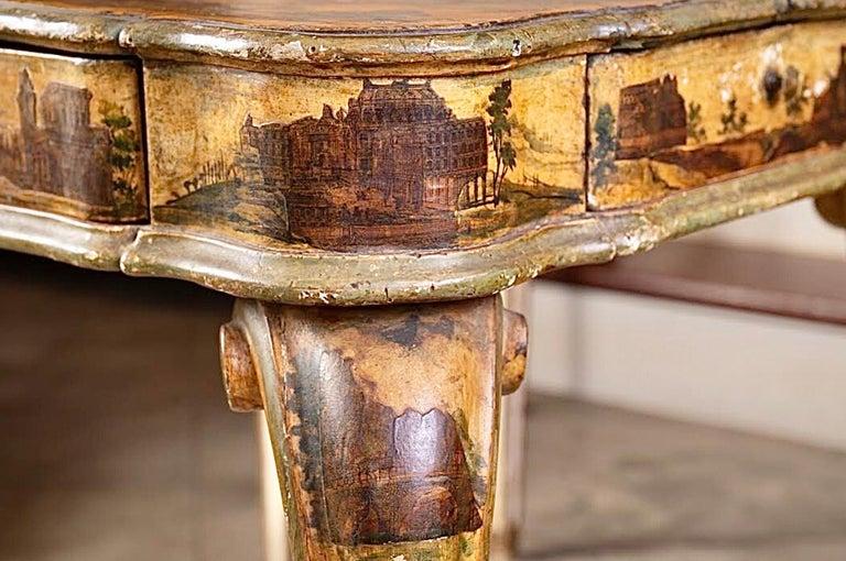 Fantastic 18thc Italian Arte Povera Game Table In Distressed Condition For Sale In New Orleans, LA