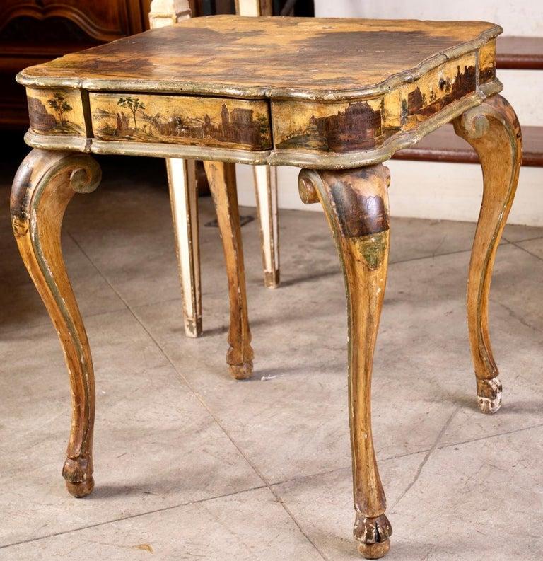 18th Century Fantastic 18thc Italian Arte Povera Game Table For Sale