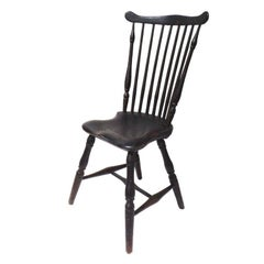 Fantastic 18thc Original Painted New England Windsor Side  Chair