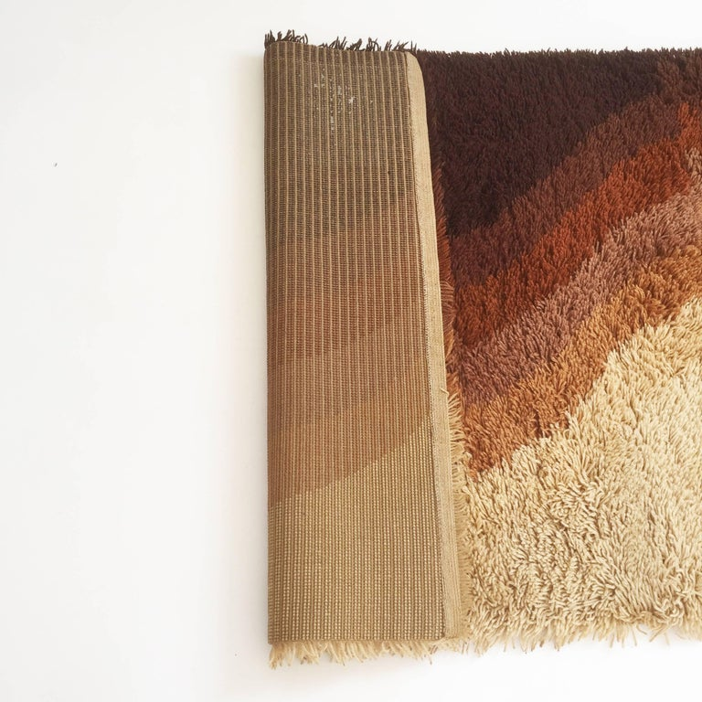 Fantastic 1970s Modernist Multi-Color High Pile Rya Rug by Desso, Netherlands For Sale 1