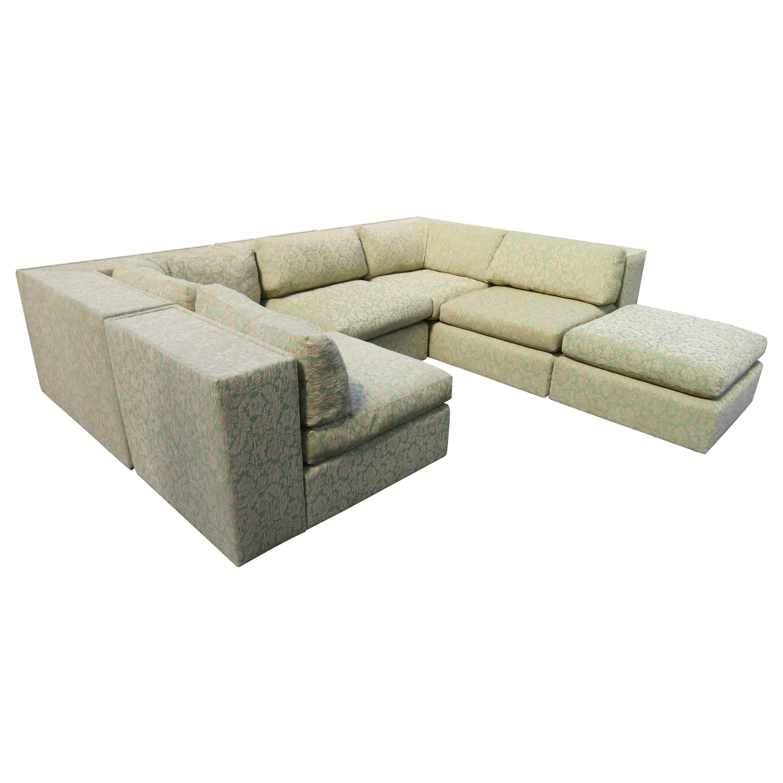 Fantastic 5 Piece Milo Baughman Sectional Sofa for Thayer Coggin