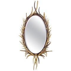 Fantastic Adirondack Natural Antler Mirror