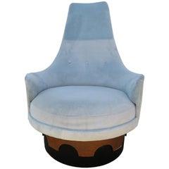 Fantastic Adrian Pearsall Tall Back Swivel King Chair, Mid-Century Modern