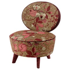 Fantastic Armchair Frame Made Solid Timber and Wood Fabric Upholstered Feet