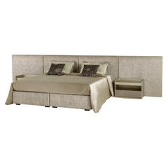 Fantastic Bed Headboard and Bed Frame in Plywood Available in Fabric or Leather