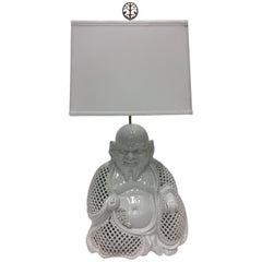 Fantastic Blanc De Chine Buddha Table Lamp