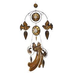 Fantastic Brass, Copper and Enamel Mobile by Cesar Vasquez