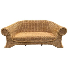 Fantastic Curved Woven Wicker Sofa/Settee