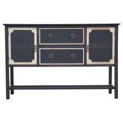 Fantastic Custom Modern 1930s Chinese Chippendale Two-Tone Sideboard / Credenza