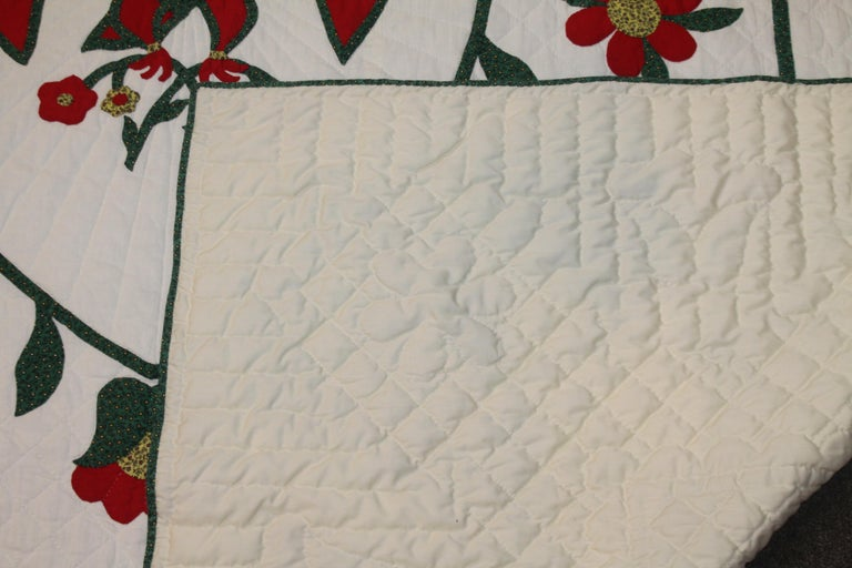 Fantastic Eagle Applique Quilt with a Swag Border 1