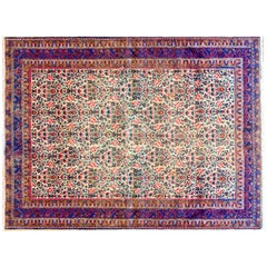 Fantastic Early 20th Century Antique Afshan Rug