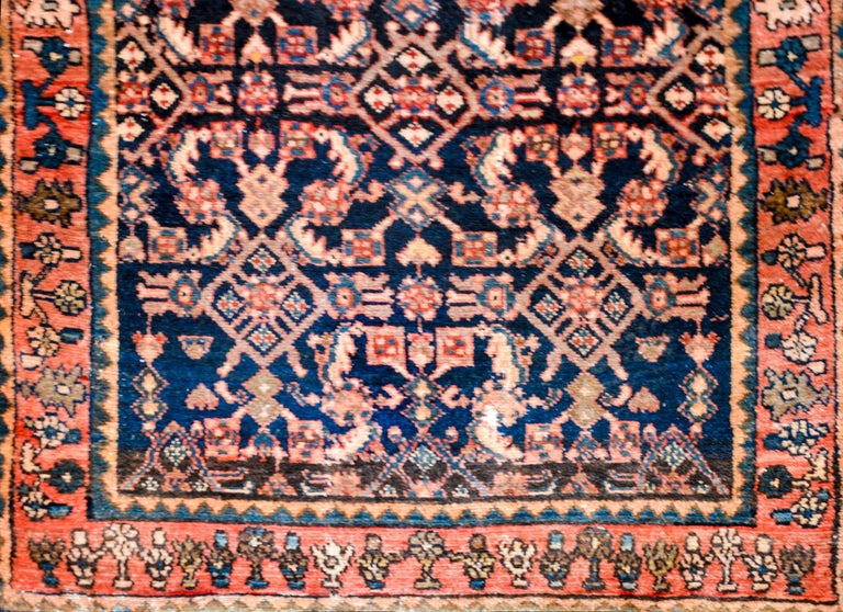 Vegetable Dyed Fantastic Early 20th Century Hamadan Runner For Sale