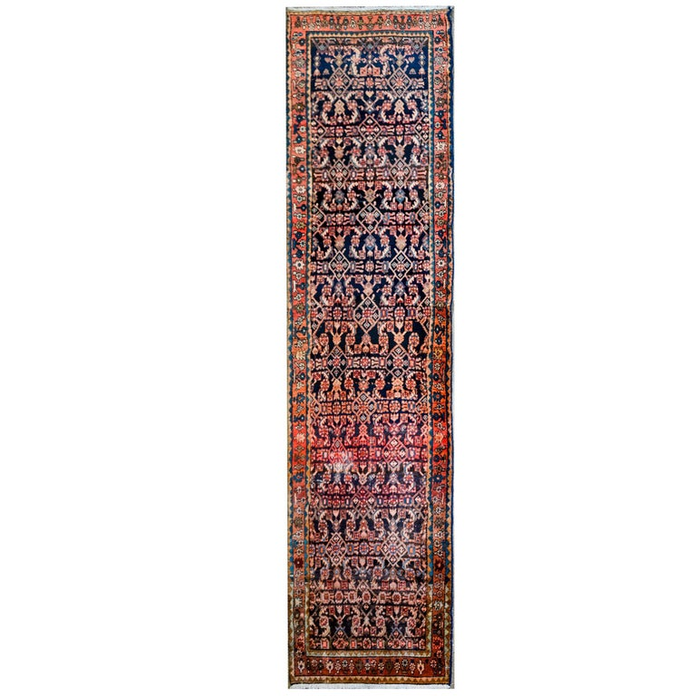 Fantastic Early 20th Century Hamadan Runner For Sale