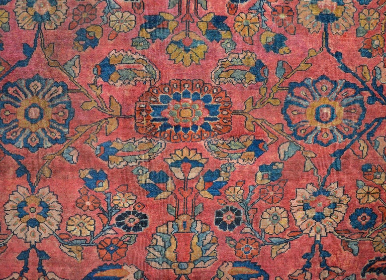 Vegetable Dyed Fantastic Early 20th Century Sarouk Mahal Rug For Sale