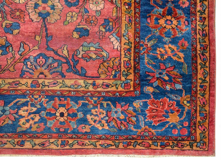 Wool Fantastic Early 20th Century Sarouk Mahal Rug For Sale