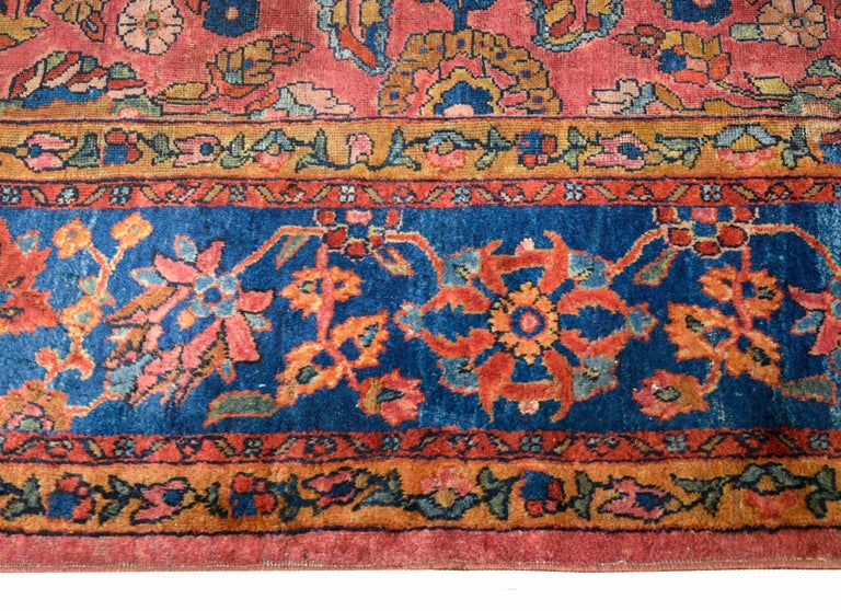 Fantastic Early 20th Century Sarouk Mahal Rug For Sale 1