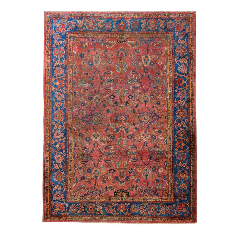 Fantastic Early 20th Century Sarouk Mahal Rug For Sale