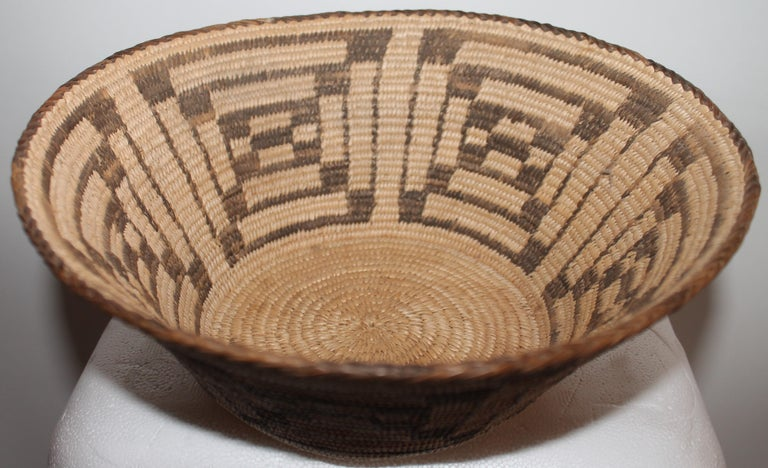 Native American Fantastic Early 20thc Pima Indian Basket For Sale