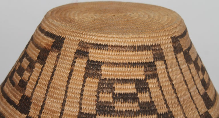 American Fantastic Early 20thc Pima Indian Basket For Sale