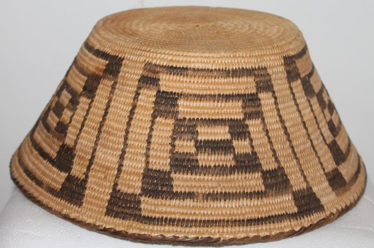 Hand-Crafted Fantastic Early 20thc Pima Indian Basket For Sale