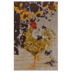 Fantastic Fabric Tapestry Jakuchu Collection Rooster