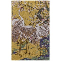 Fantastic Fabric Tapestry Jakuchu Collection Heron